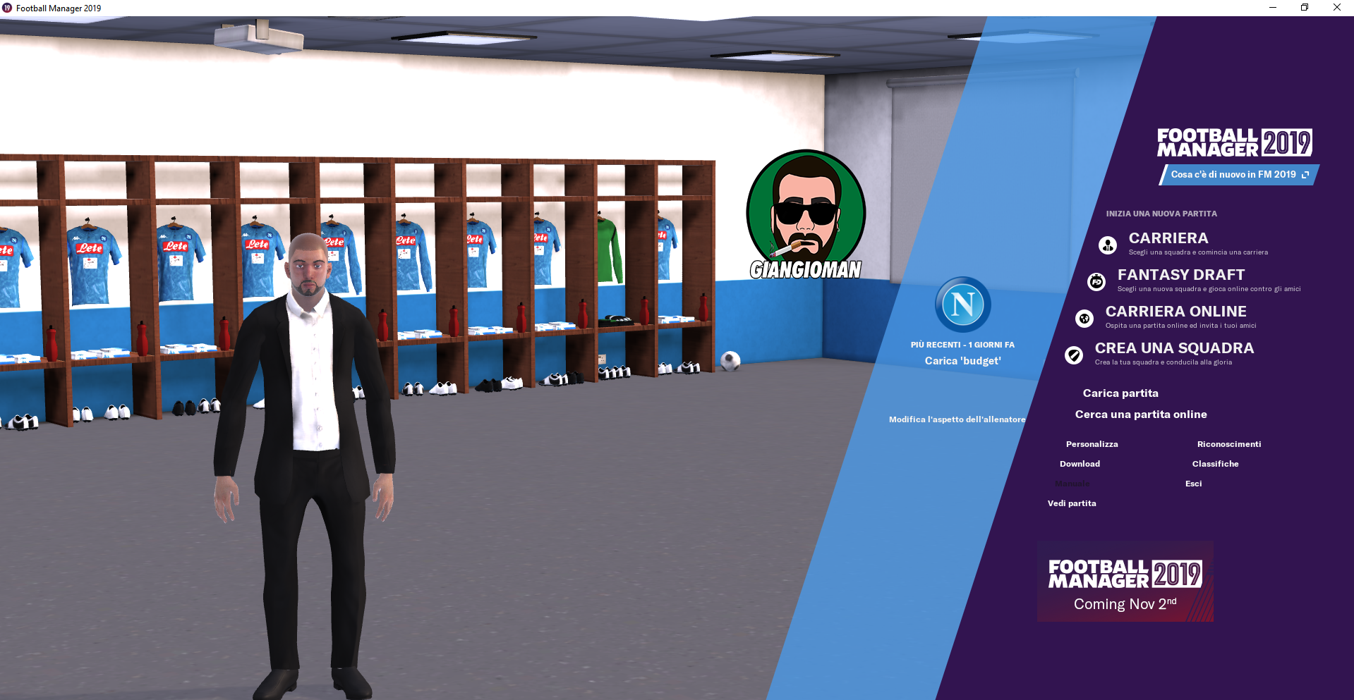 Giangioman Instant Result Skin Football Manager 2019