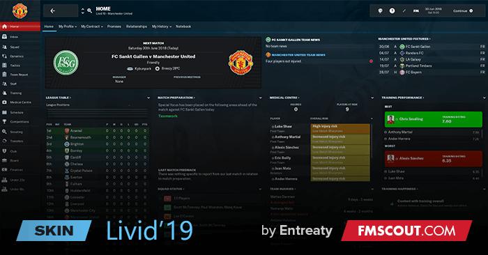 Livid19 Skin Football Manager 2019