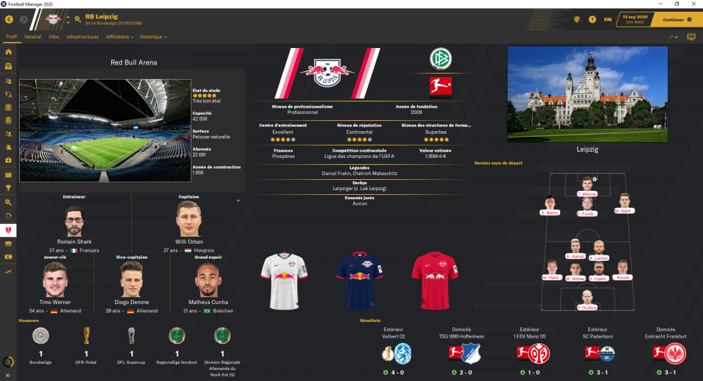Skin Gold 1.4 - Football Manager 2020