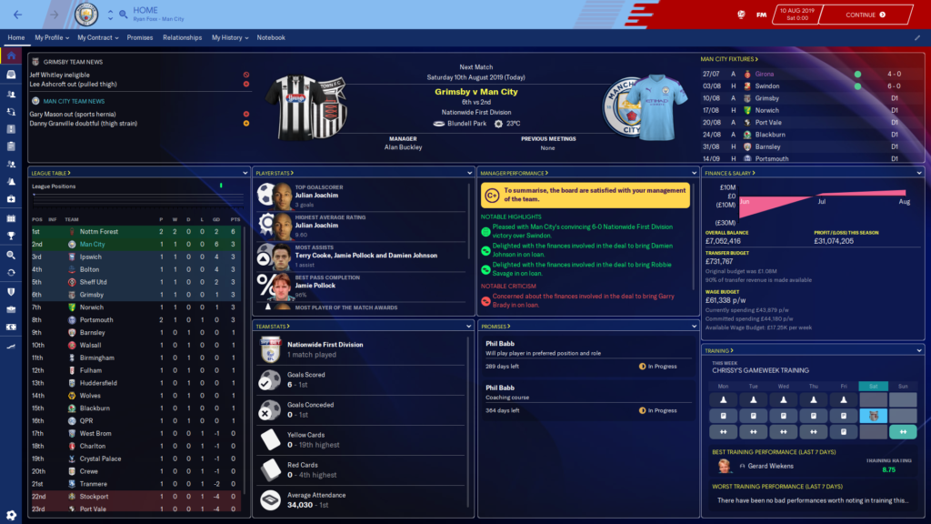 Skin Football Manager 2020