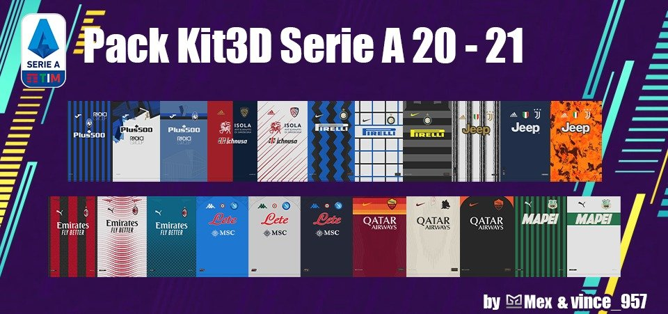 Kits 3D Serie A Football Manager 2021
