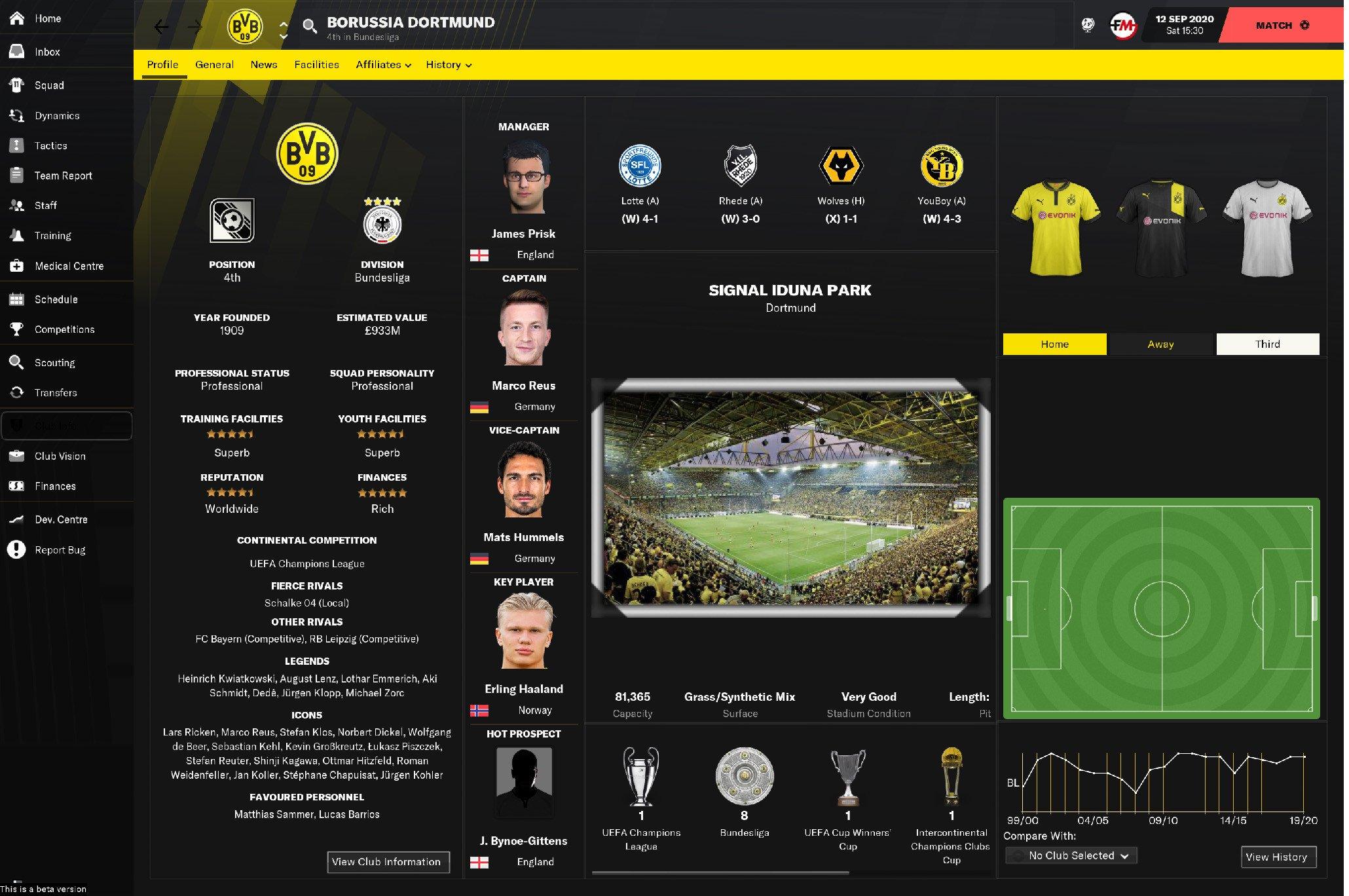 Priisek Skin Football Manager 2021