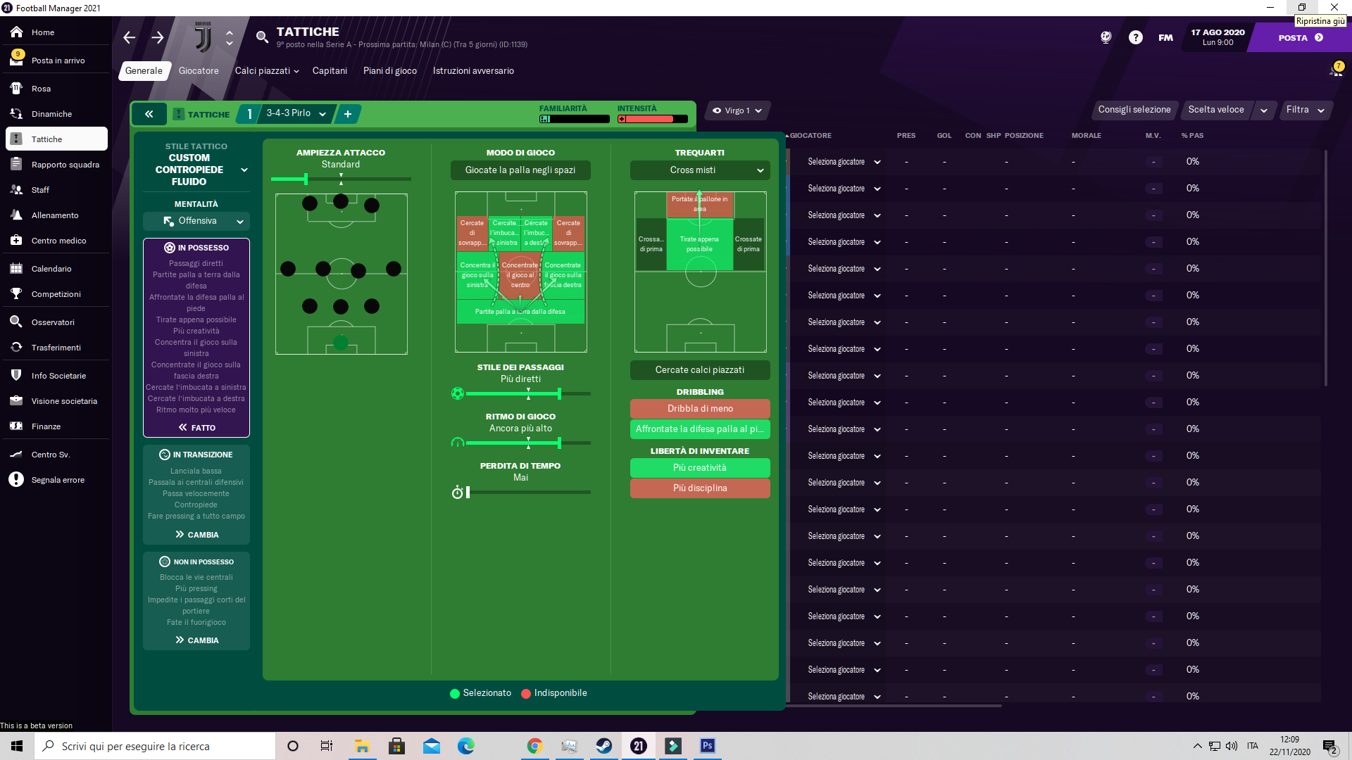 343 Andrea Pirlo Football Manager 2021