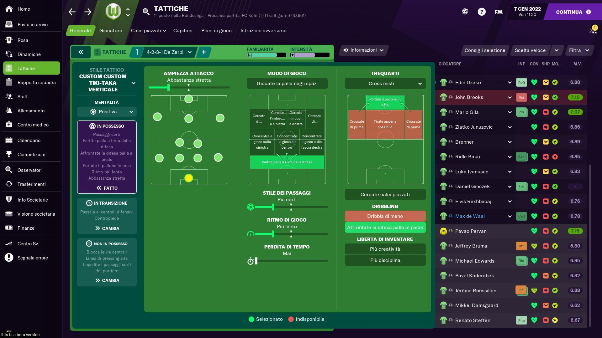 4231 De Zerbi Football Manager 2021