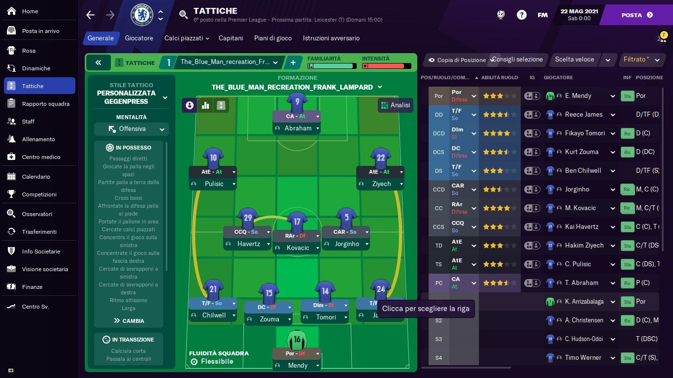 Blue Man Football Manager 2021