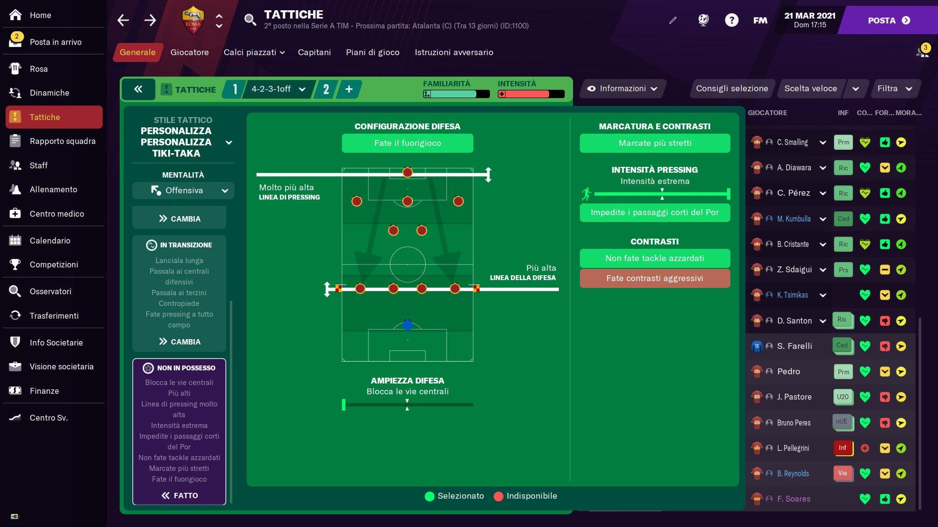 4231 Off Football Manager 2021